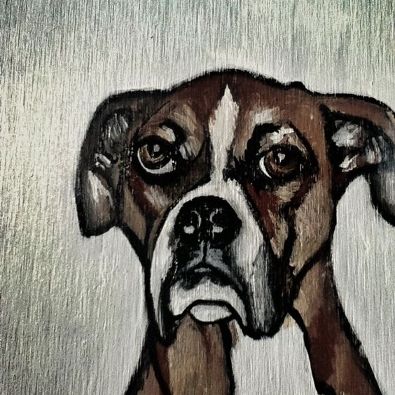 Lola. Custom dog portraits by TLB.