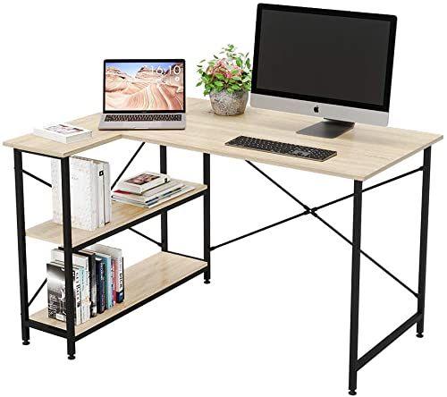 New Bestier Computer Desk Storage Shelves Under Desk Small L Shaped Corner Desk Shelves 47 Inch Writing Desk Table Storage Tower Shelf Home Office Desk Sma In 2020 Desks For Small Spaces