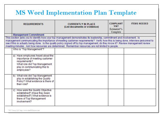 Simple Gap Assessment Format Template Projectemplates Excel - Implementation Plan Template