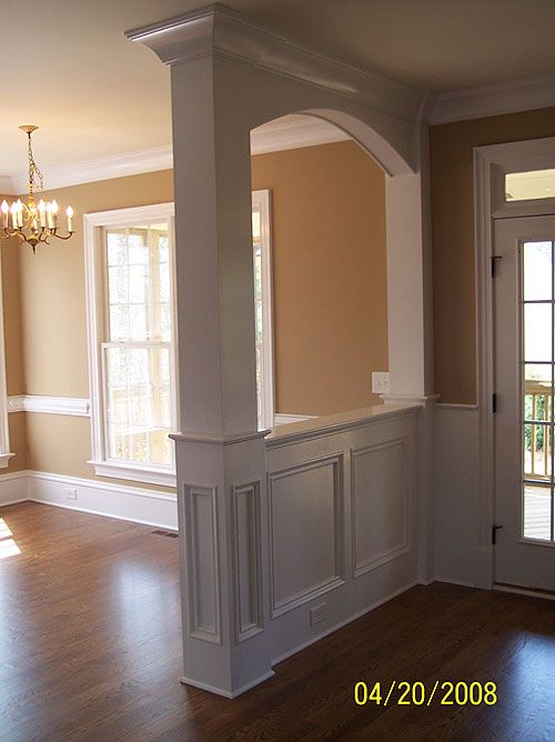 Bookcase Columns    This Is Similar To What We Are Doing Between The Dining  And Front Room... And Chair Molding | Ideas................ | Pinterest |  Front ...
