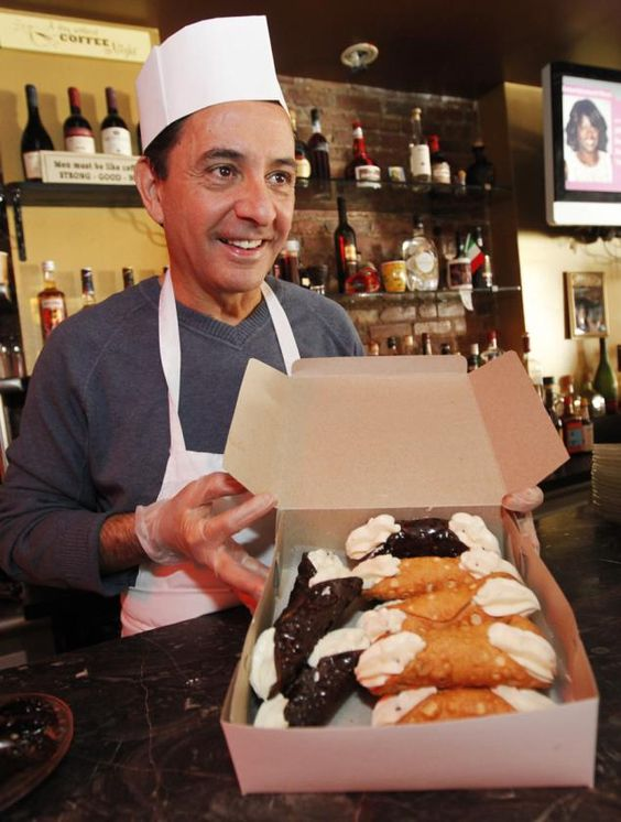 """Cafe Palermo - just here for their """"Best cannoli in NYC"""""""