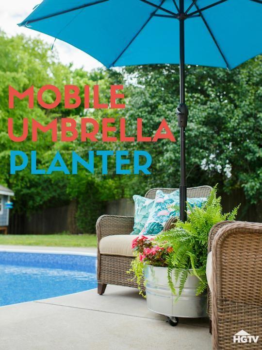 Throwing Shade Diy Rolling Umbrella Stand Planter Patio Umbrella Stand Outdoor Umbrella Stand Outdoor Umbrella