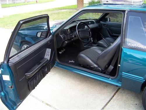 Acme Mustang Deluxe Door Panels For Hardtop W Power Windows Black 90 93 Mustang Black Doors Mustang Interior