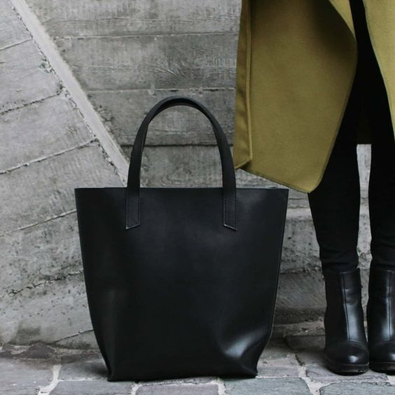 Сумка женская кожаная Shopper black leather