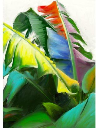 ShopStyle: Banana Leaves I Canvas Artwork