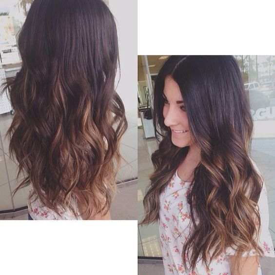 Ombré for this gorgeous girl!  @ariel_nevarez  #ombre #balayage #darkhair #longhair #hairstyles #hairstylist #curls #pretty #toniguy