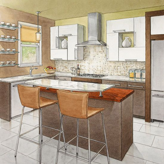 Secrets Of Successful Kitchen Layouts  Countertops Layout And Delectable Bhg Kitchen Design 2018
