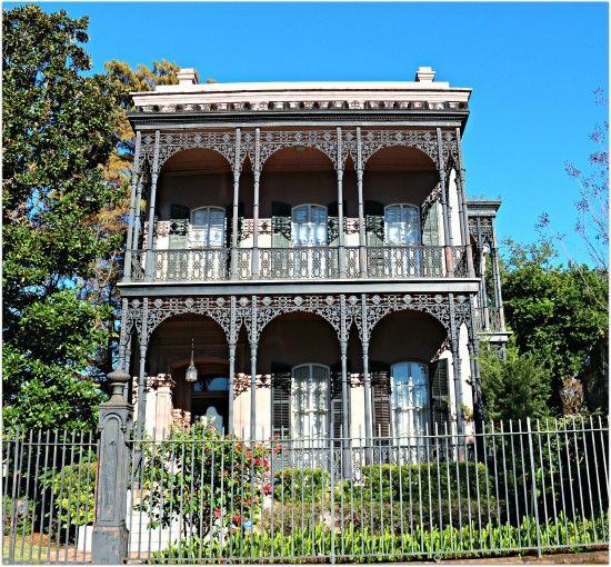 new orleans houses wrought iron balcony and veranda   Garden District Home with Wrought Iron ...