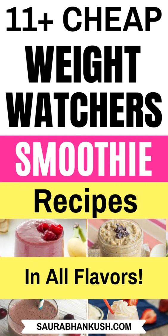 11 Weight Watchers Smoothies Recipes with SmartPoints - WW Smoothies Breakfast Freestyle - SaurabhAnkush
