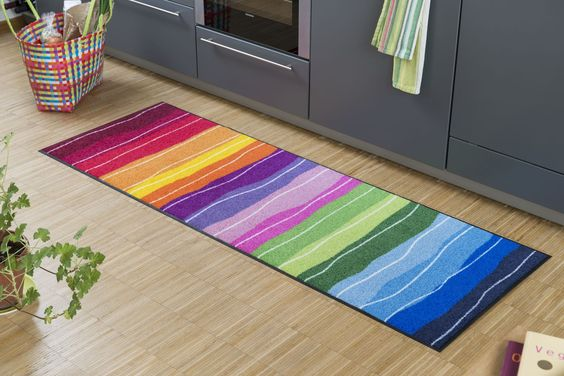 #Küchenteppich Wavy lines
