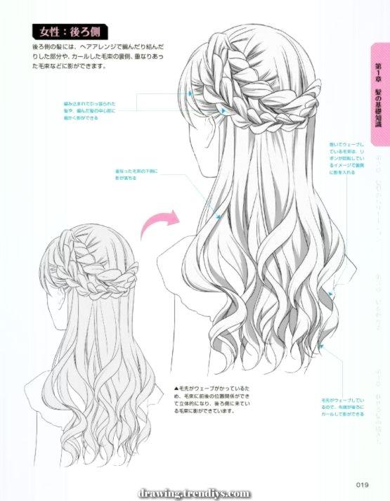 Excellent Hair Again Braid Drawing Tutorial Animedrawing Anime Drawing Tutorials How To Draw Braids Drawing Hair Braid How To Draw Hair