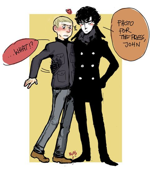 fluffy johnlock sherlock - photo #11