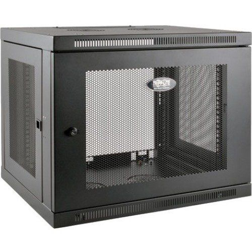 Tripp Lite 9u Wall Mount Rack Enclosure Server Cabinet Low Profile Deep Black In 2020 Wall Mount Rack Server Cabinet Wall Mount