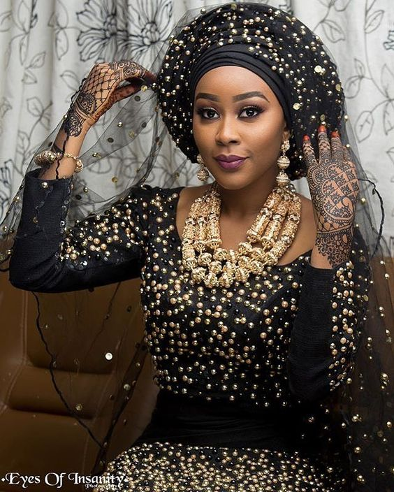 Super-studded and elegant! Make up by @ayushbeauty  Aso oke by @northern_incense_ng Captured by @eyesofinsanity  #sugarweddings