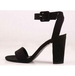 Black Heels Thick Heel