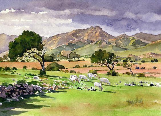 El Valle De Rodalquilar Painting  - El Valle De Rodalquilar Fine Art Print