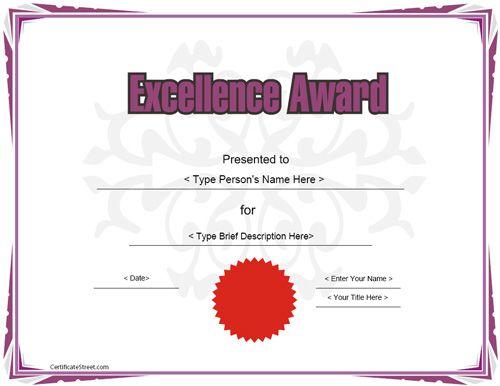 certificate certificates award templates printable education template easy teacher awards maker teachers amazing certificatestreet examples
