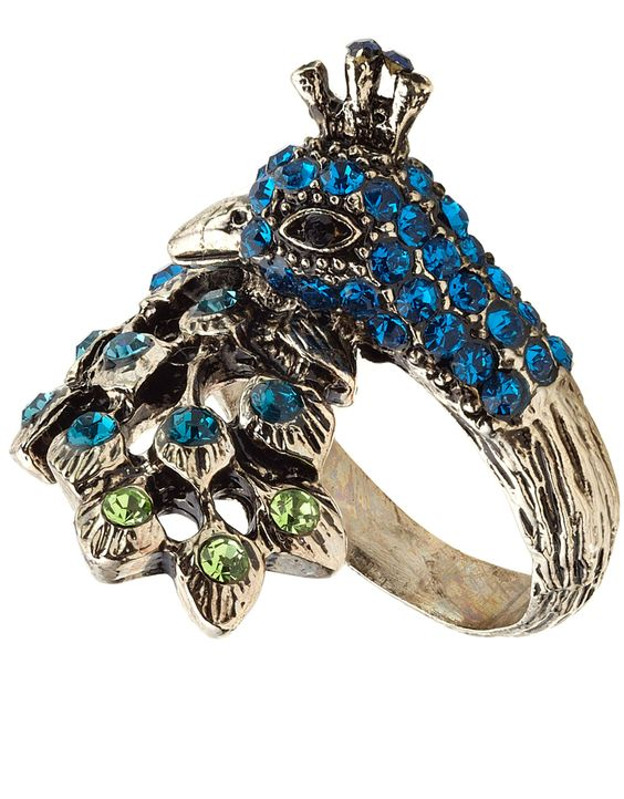 Peacock Crystal Ring Accessorize