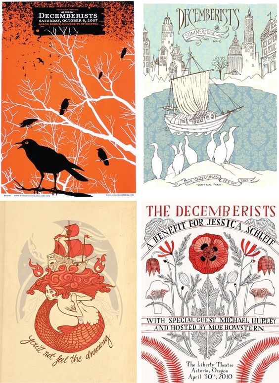 Why are The Decemberists's posters always  awesome?