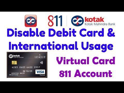 Kotak Mahindra Bank 811 Saving Account Debit Card Disable International Usage Deactivate Som Tips Video Analysi Tutoriales Trajes Casuales Maquillaje De Ojos