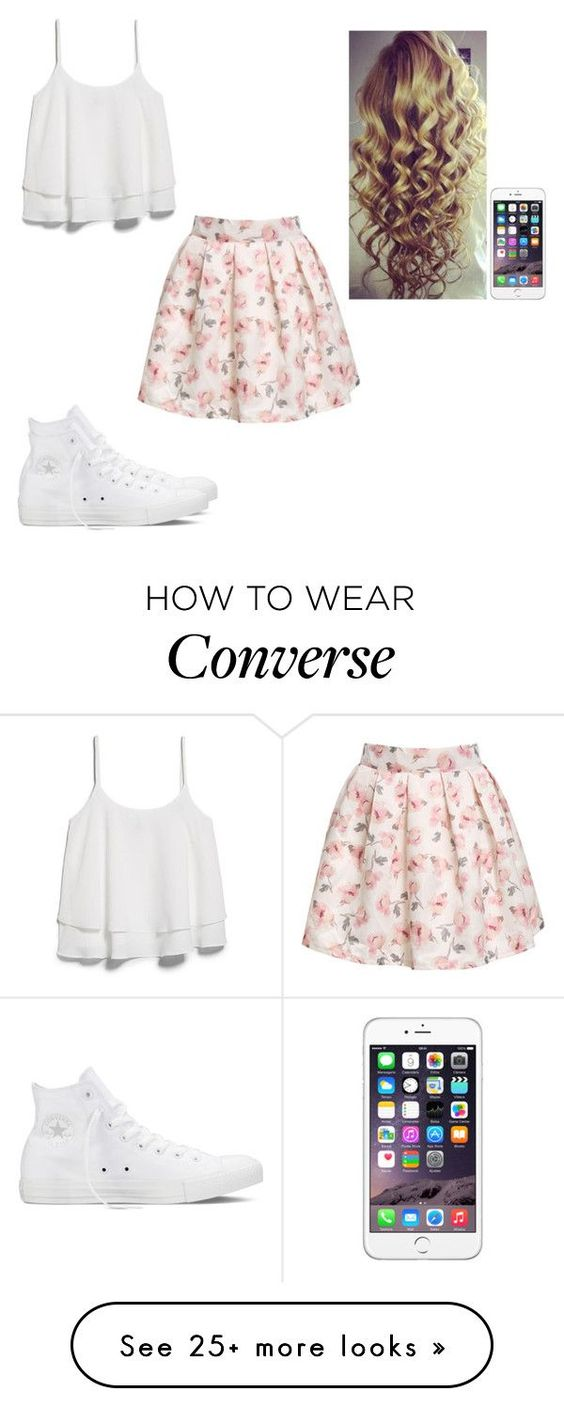 """""""Untitled #442"""" by hannahmcpherson12 on Polyvore featuring MANGO and Converse"""