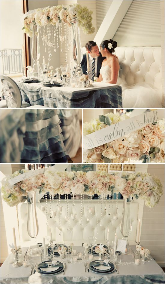 NEED a ruffle table skirt for sure!