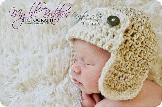 Free Aviator Crochet Hat Pattern Crochet baby, Crochet ...
