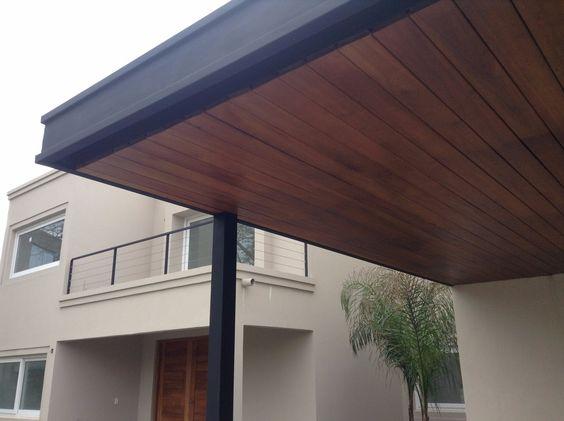 Pergolas de madera y hierro buscar con google techos for Terrazas hierro