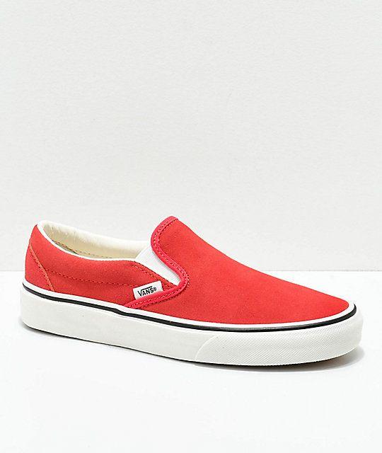 Vans Slip On Hibiscus Suede Skate Shoes Zumiez Suede Skate Shoes Womens Shoes Wedges Vans Slip On