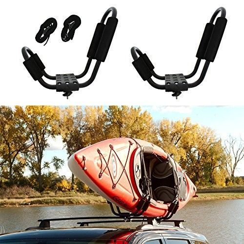 car or Truck. SUP and Kayaks on Your SUV Folding Carrier for Your Canoe Set of Two Kayak Roof Rack J-Bar Racks That Mount to Your Vehicle/'s roof Rack Cross Bars Kayak Roof Rack by Vault Cargo