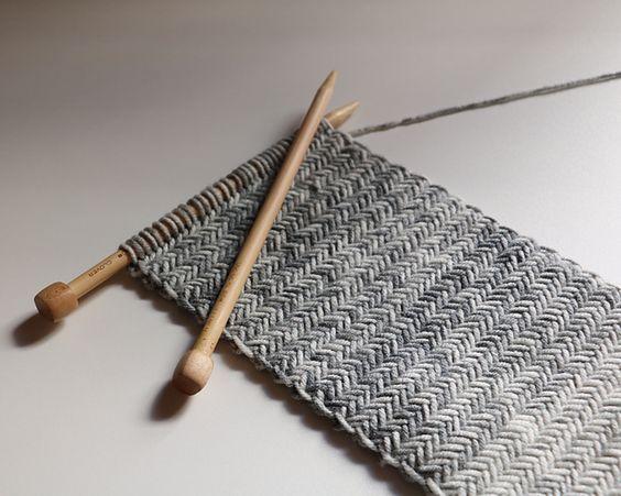 ヘリンボーンの編み方