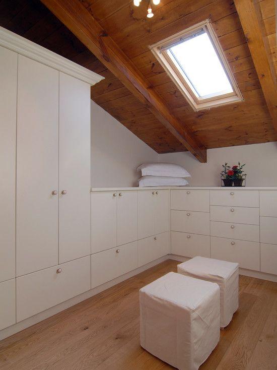 Attic converted into a closet attic bedroom conversion for Attic design studio