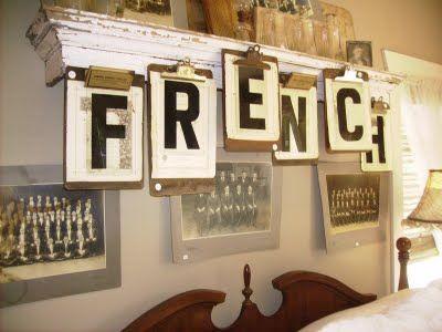 Clipboard letter sign - Brilliant!