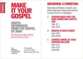 Make It Your Gospel: Useful references from the Gospel of John.