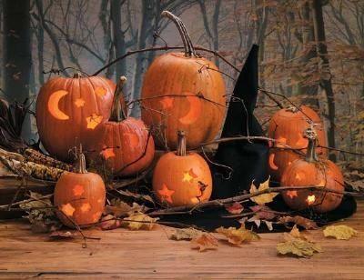 Cookie-cutter pumpkin carving
