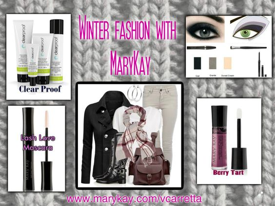 Highlight your winter fashion with Mary Kay skin care and makeup!  FREE SHIPPING!  www.marykay.com/vcarretta