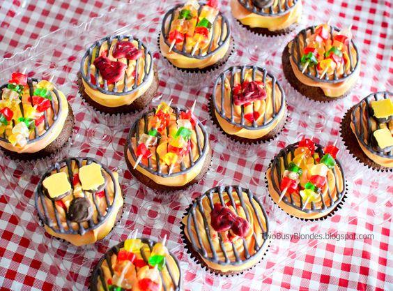 - Mini bbq GRILL tops cupcakes