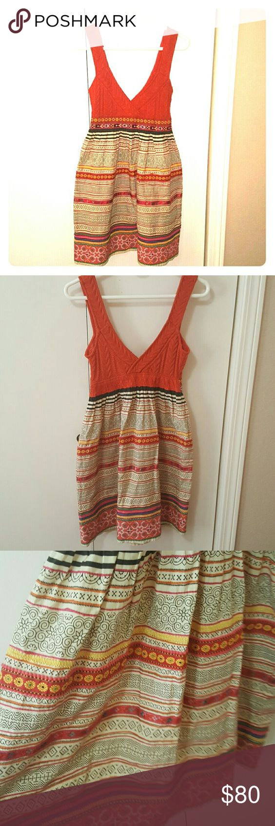 Free People bohemian dress ADORABLE bohemian free people dress! This item is in great condition. Wear this dress and you'll surely turn heads. Wear it to your favorite cafe, or lounge and listen to some records. Really, I can't express how cute this dress is! If you should have any questions please do not hesitate to ask!  Side note: Stored in my closet in a home with cats and dogs Free People Dresses