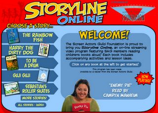 Storyline Online - books read online by famous folks with activities for each book