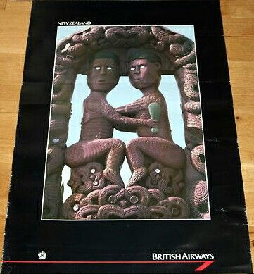 British Airways New Zealand Poster