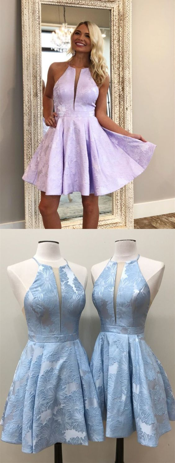 Cute Lilac Printed Stain Short Homecoming Dresses Vintage A Line Graduation P Cute Homecoming Dresses Floral Homecoming Dresses Long Sleeve Homecoming Dresses [ 1486 x 564 Pixel ]