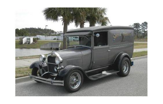 1929 Ford Model A Panel Truck Restored All-Steel For Sale | Hotrodhotline.com