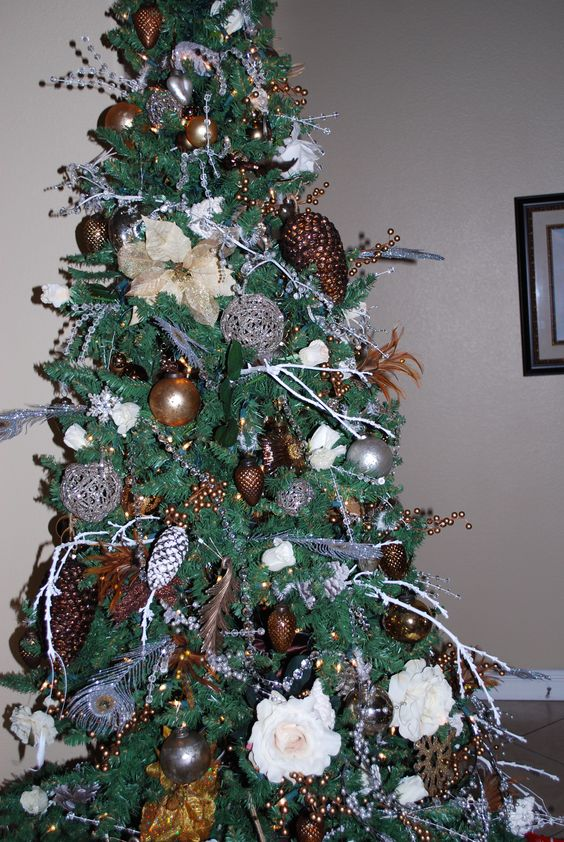 white and brown christmas
