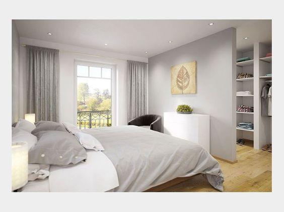 Mit einem zarten Grau im Schlafzimmer schaffen Sie eine schöne ...