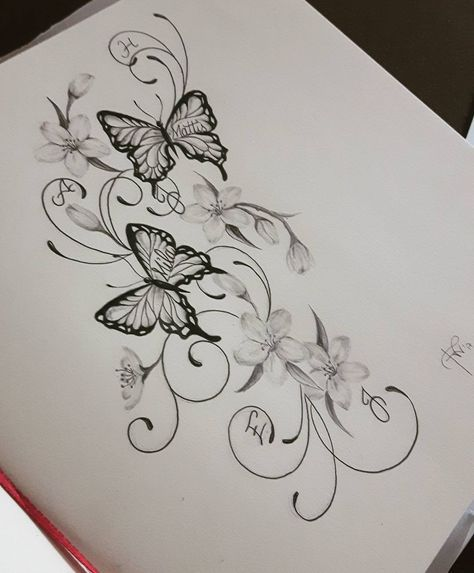 16 Trendy Tattoo Flower Sketch Butterflies Butterfly With