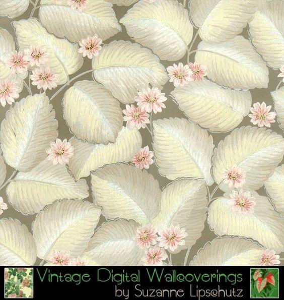 Suzanne Lipschutz Vintage Digital Reproduction Wallpaper [DIG-62107] : Designer Wallcoverings™