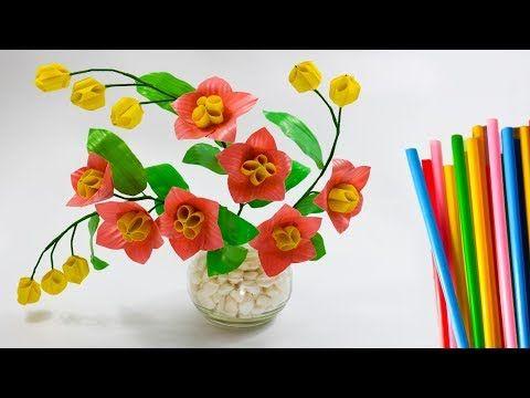 Bunga Sedotan Kreatif Hiasan Dekorasi Kamar Pretty Flower Craft