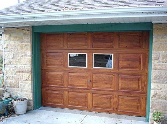 Outdoor Small Wood Garage Door Also Glass Window Ideas