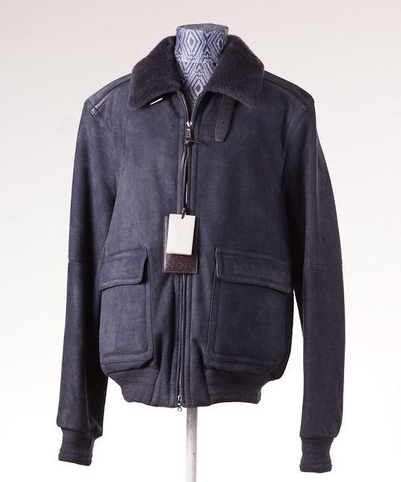 Brioni leather jacket