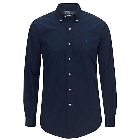 Buy Polo Ralph Lauren Custom Fit Dress Shirt, Navy Online at johnlewis.com